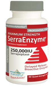 Serra Enzyme 250,000iu -- ADVANCED and IMPROVED Maximum Strength